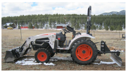 Hitchin Post Tractor Trailer Sales Rentals 27HP Bobcat Compact Tractor with Rear Grader Blade